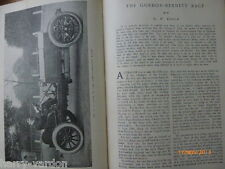 RARE Early MOTOR RACING articolo il Gordon Bennet corsa 1904 Ritter Hotel HOMBURG