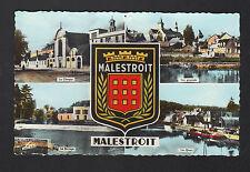 MALESTROIT (56) CLINIQUE , VILLAS , BARRAGE , PENICHE à QUAI & BLASON en 1960