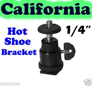 1-4-034-Hot-shoe-mount-adapter-adjustable-angle-pole-for-Flash-LED-light-Camera