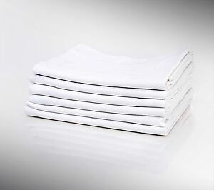 1 NEW WHITE PILLOW CASE STANDARD SIZE 20X32 T180 PERCALE HOTEL LINEN