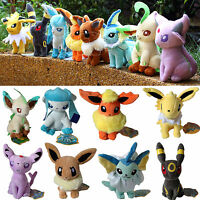 8pcs Pokemon Go Evolution Of Eevee Umbreon Plush Soft Toy Stuffed Animal Doll Us