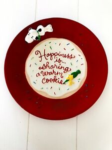 Hallmark-Peanuts-Happiness-Is-Sharing-A-Warm-Cookie-Plate-Snoopy-amp-Woodstock