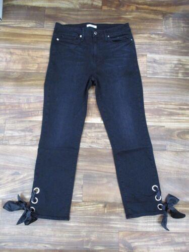 Taglia 010 6 Dritta Gamba Jeans Nero Stringate Nuovo Buona American Caviglia v470wzPzq