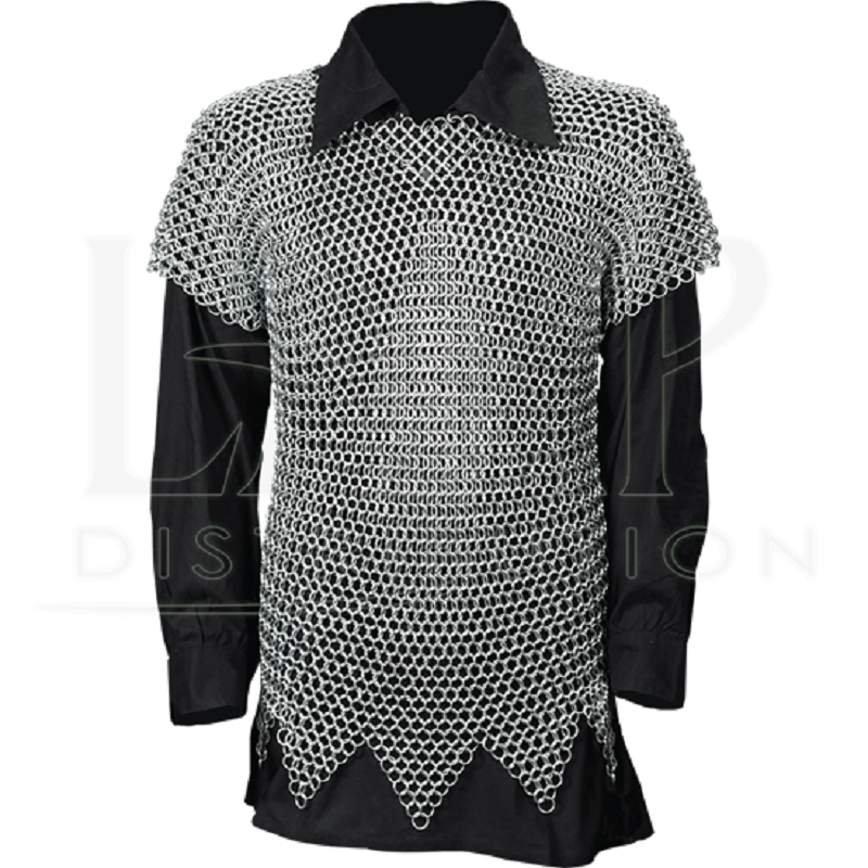 Aluminium Butted Zig Zag Botton Chain mail Shirt 50x32x10 for SCA/LARP/Role Play