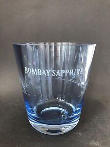 bombay sapphire gin flaschen glas k hler ice bucket bowl deko bar neu ovp selten ebay. Black Bedroom Furniture Sets. Home Design Ideas