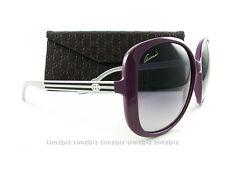 New Gucci Sunglasses GG 3157/s SG6DG Violet Plum Silver Authentic