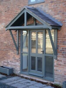 Timber Front Door Canopy Porch Bespoke Shropshire Awning