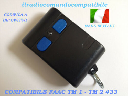 RADIOCOMANDO COMPATIBILE FAAC TM1 433 CODIFICA A DIP SWITC COME L/'ORIGINALE