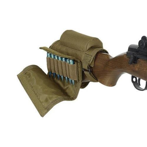 Tactical Buttstock Cheek Rest Ammo Pouch Gun Carrier Case Holder Rifle Stocks