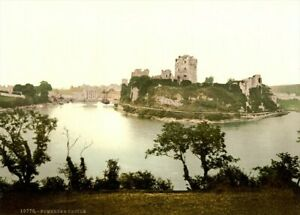 Pembroke-The-Castle-1890-039-s-Vintage-Welsh-Photography-Poster