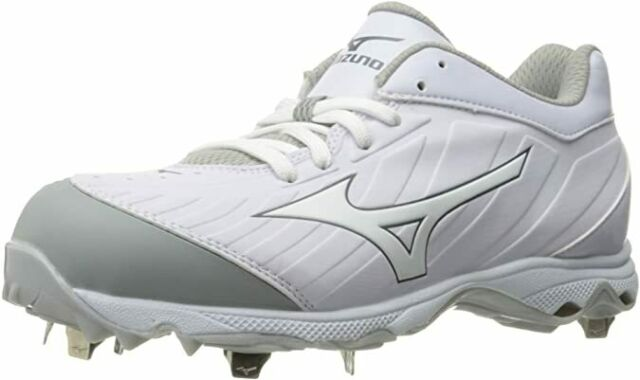 mizuno 9 spike sweep white