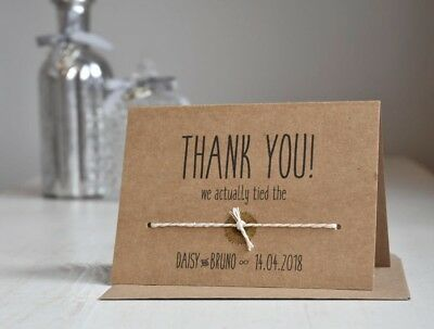 Personalised Wedding Thank You Cards