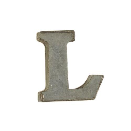 L Small Decorative Tin Letters