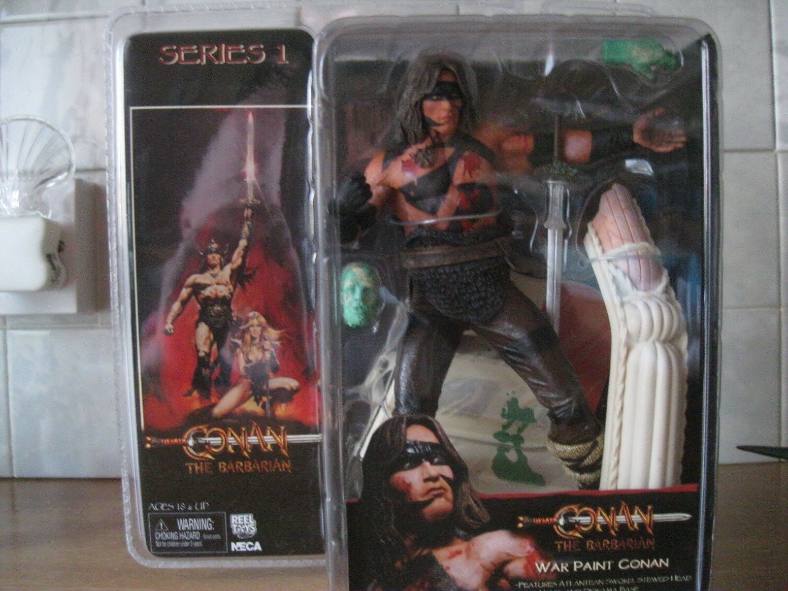Neca serie 1 Conan the Barbarian War Paint Conan Temple of Thulsa Doom New MOC