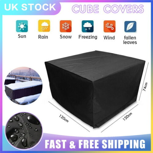 Heavy Duty Furniture Cover Waterproof Cube Protect Sofa Chair Outdoor Garden UK