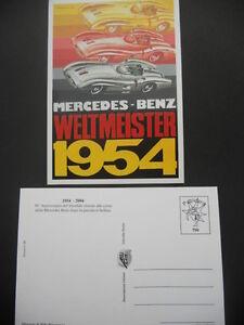CARTOLINA-POSTCARD-MERCEDES-BENZ-1954-2004-N-799