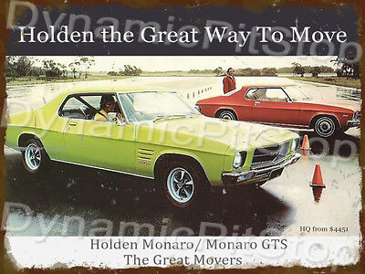 Wall Mount Bottle Opener Metal Sign HOLDEN HK GTS Coupe Red