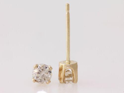 Genuine 0.25ct Round Cut Diamond Stud Earrings 14karat Yellow Gold Clearance