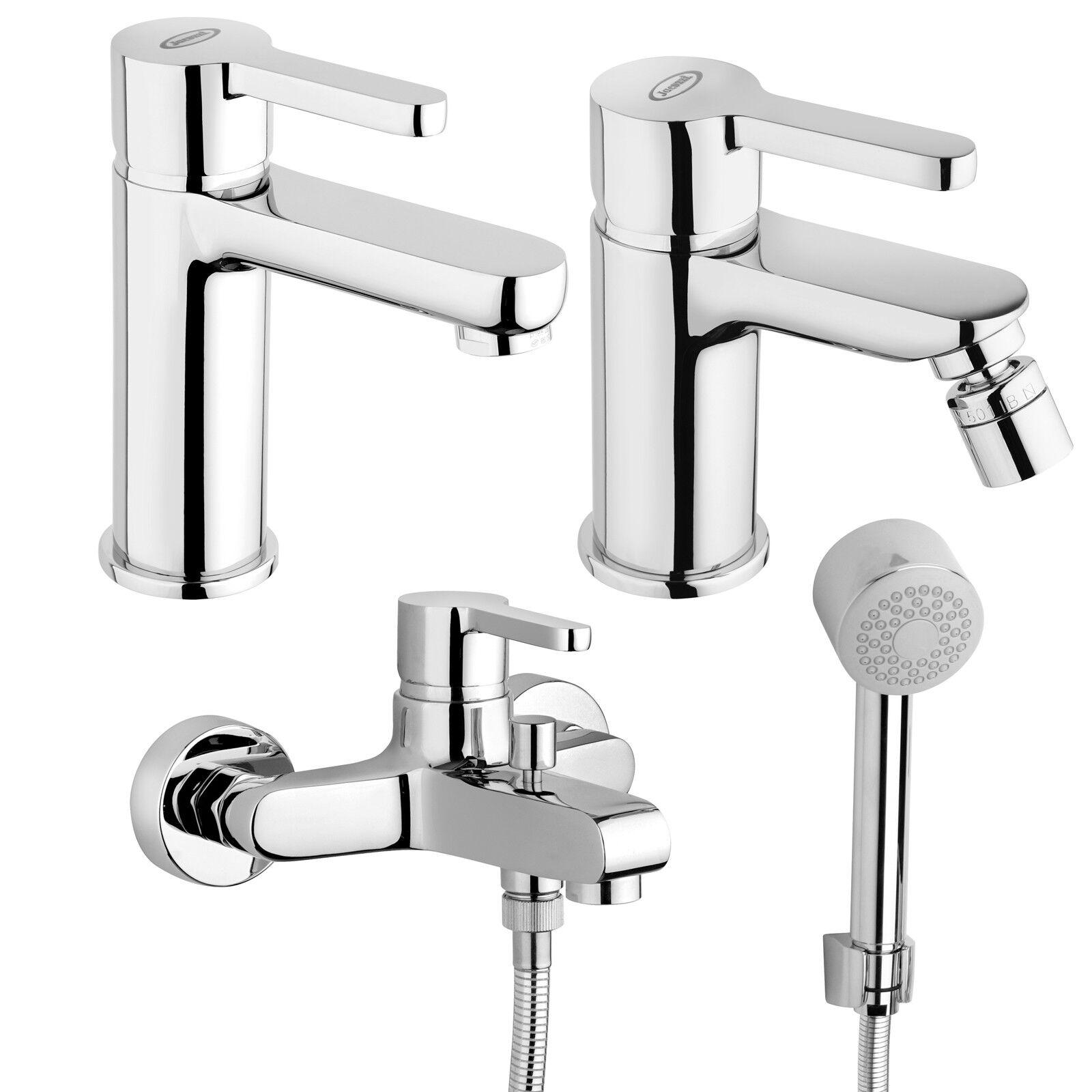 Miscelatori Jacuzzi - Rubinetteria per vasca bidet e lavabo completi di doccino