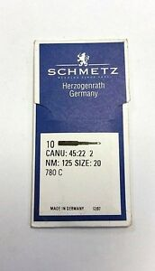 SCHMETZ DPx16LR135X16RTW CANU37:20AX1SIZE120//19 INDUSTRIAL SEWING MACHINE NEEDLE