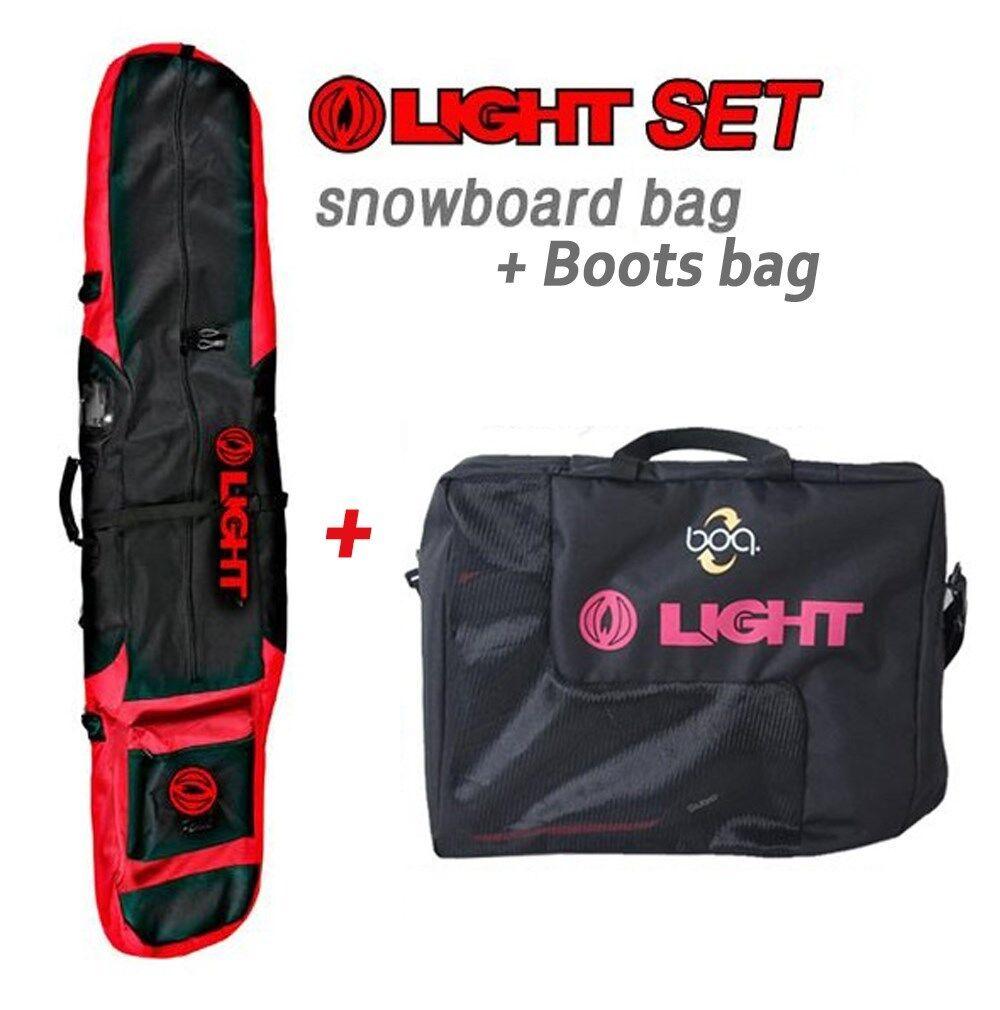 [1+1] LIGHT Snowboard Bag(172cm,155cm) + Boots Bag 2ea Set Shoulder, Hand Strap