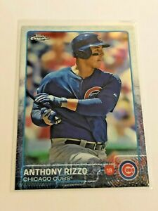 2015-Topps-Chrome-Baseball-Base-Card-Anthony-Rizzo-Chicago-Cubs