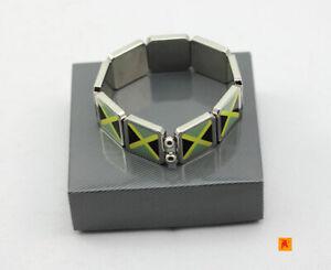 Jamaica-Flag-design-Metal-fashion-bracelet