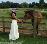 Zara Ecru Long Flowing Maxi Skirt Size S_m_l Ref 0881 124