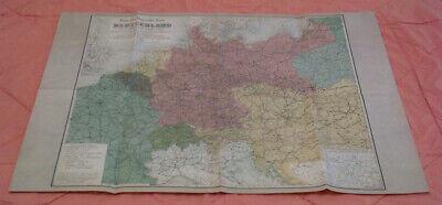 Begeistert Reise- Und Übersichtskarte Von Deutschland Und Den Nachbarländer 1880 - Replikat Offensichtlicher Effekt