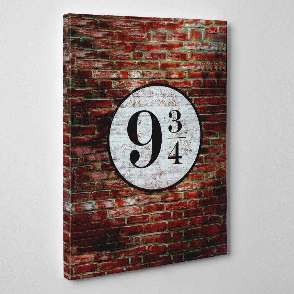 Plateau 9 3 4 - Gerahmter Leinwand Kunstdruck - Harry Potter Plateau Film Kunst