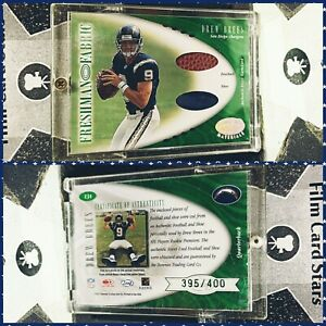⚜️ 2001 Leaf Certified Materials Drew Brees Rare High # Shoe & Ball Rookie Card