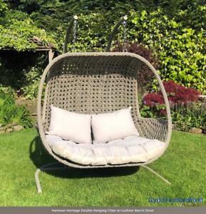 Hartman Heritage Double Hanging Chair w/cushion Beech/Dove ...