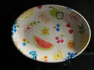 Oval Nessico Platters With Narrow Rim Melamine White
