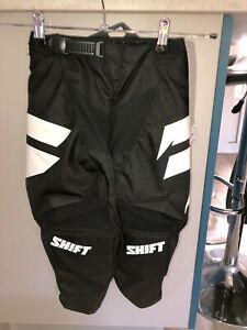 pantalon motocross noir SHIFT youth whit3 taille 6/7 ans (Y22 US) valeur 80€