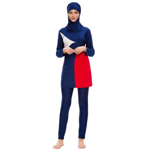 Islamic Women Modest Swimwear Muslim Full Cover Swimsuit Burkini Beachwear Arab