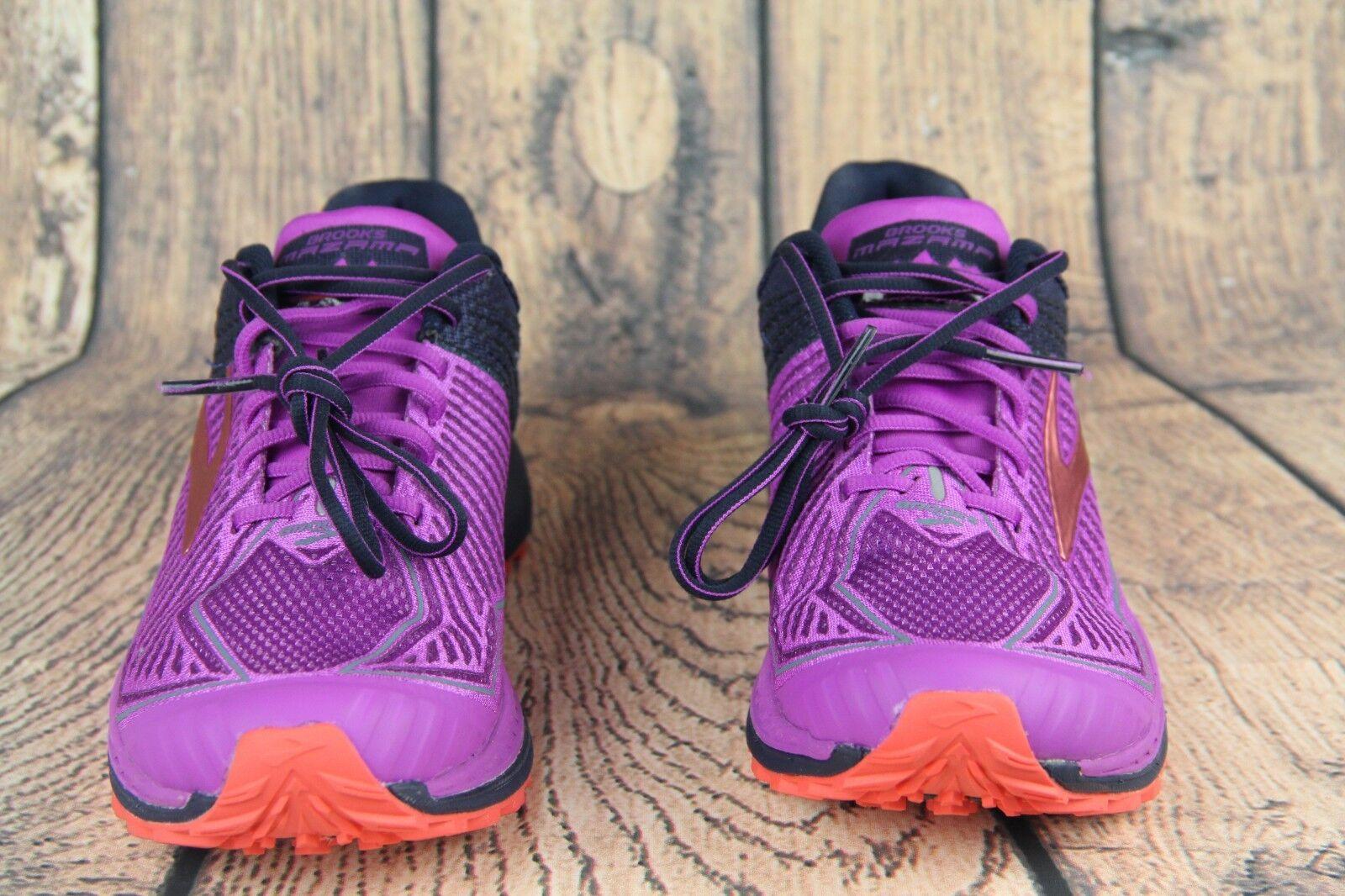 4d93d99b53b Brooks Mazama Purple Orange Navy Trail Running Shoes 1202271 B596 ...