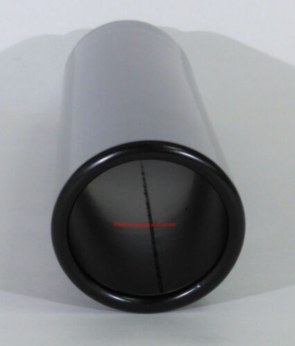 "Black Stainless Steel Exhaust Tip 2.25/"" Inlet 3/"" Outlet 16/"" Long"