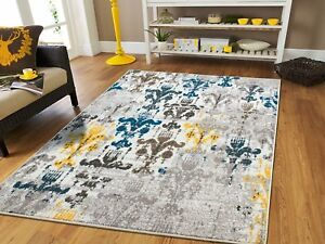 Image Is Loading Luxury Modern Faded Style Area Rugs 8x10 Yellow