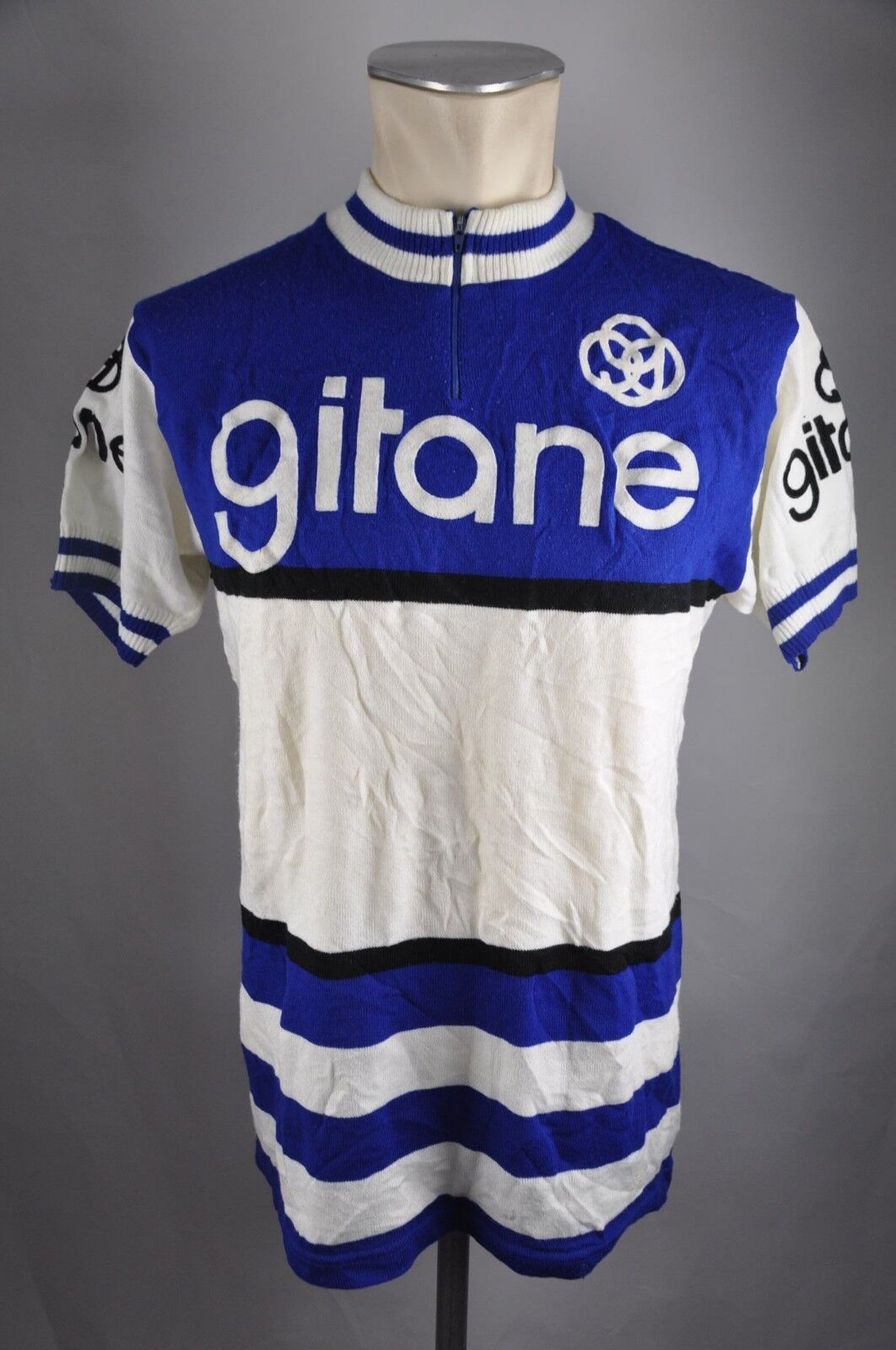 Gitane acrylique vintage jersey Tricot Tricot Tricot noret Gr. L BW 54cm Bike cycling BC2 3b801e