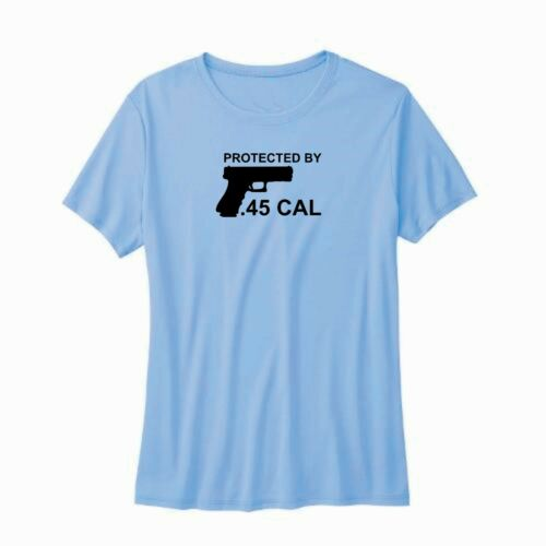 2nd Amendmant Great Gift Idea Details about  /Protected By .45 Cal T-Shirt