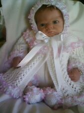 "KNITTING PATTERN BABY 0-3 MONTHS OR REBORN DOLL 19""-21"" Patt 19 Frothy"