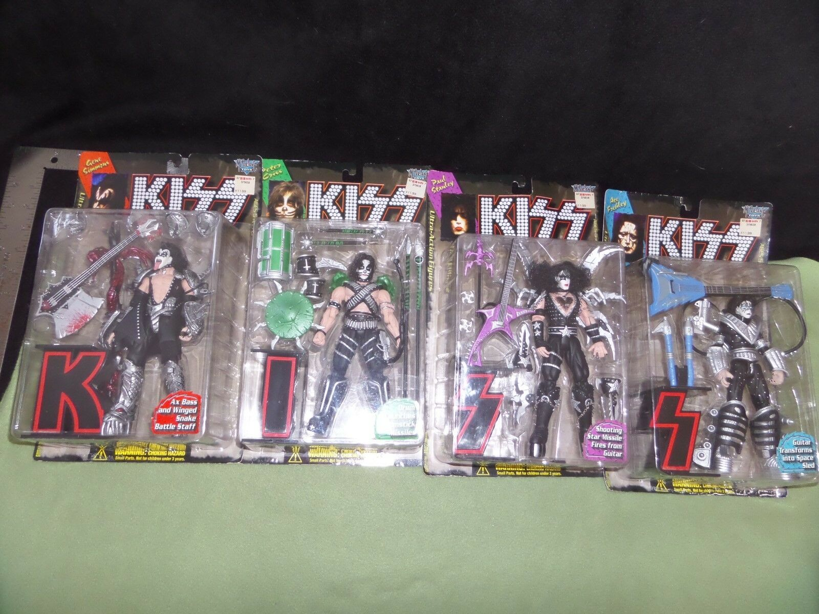 KISS 1997 Ultra Action Figures- McFarlane - Complete Set - with Variant Stanley