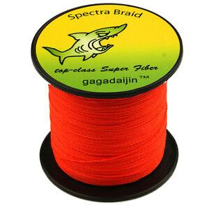 Pro-100-PE-Orange-100-1000M-6-300LB-Dyneema-Power-Super-Braid-Fishing-Line