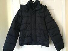 NWT Abercrombie Kids Boys Puffer Jacket Coat Navy Size XL