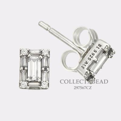 Authentic Pandora Sterling Silver Luminous Ice Stud CZ Earrings 297567CZ |  eBay