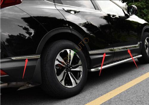 Chrome Stainless Body Side Door Mouldings Cover Trim Fit For Honda CRV 2017 2018