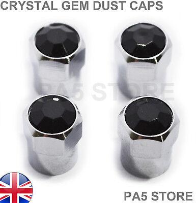VALVOLA di cromo nero nuovo polvere PNEUMATICO TAPPI RUOTA Vauxhall Corsa Universal UK ORIGINALE