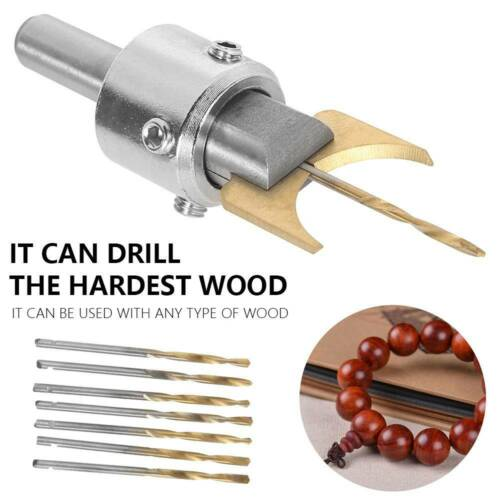 16x Premium en Bois Bouddha Perles Maker Bead Drill Bit Set Cutter Kit Outil de Fraisage
