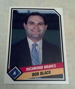 BOB BLACK 1989 TCMA CMC RICHMOND BRAVES MINOR LEAGUE CARD # 9 A1926