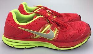 Detalles acerca de Nike Pegasus 29 Neon Amarillo Rojo Air Zapatillas  524950-607 para hombres 13- mostrar título original